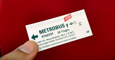 Billete de metro transporte cubierto por el Seguro Obligatorio de Viajeros