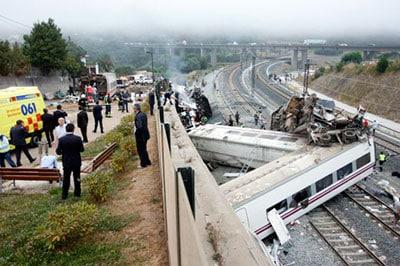 Accidente de tren en Santiago de Compostela cubierto el Seguro Obligatorio de Viajeros, gestionado por Botana Abogados