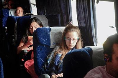 Viajeros en un transporte cubierto por el Seguro Obligatorio de Viajeros